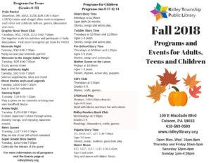 Fall Programs 2018 1